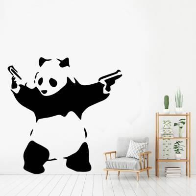 Adesivo de Parede Silhueta Panda Armado