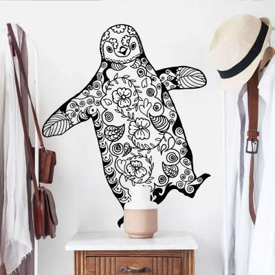 Adesivo de Parede Pinguim Mandala