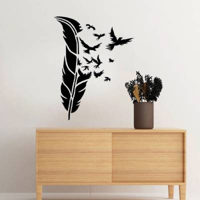 Adesivo De Parede Pena Virando Pássaros
