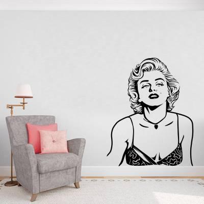 Adesivo de Parede Personalidades Marilyn Monroe