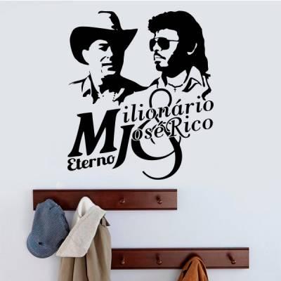 Adesivo de Parede Personalidades Milionário José Rico