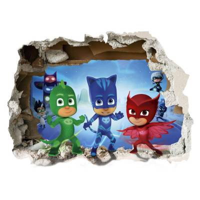 Adesivo de Parede Buraco na Parede PJ Masks