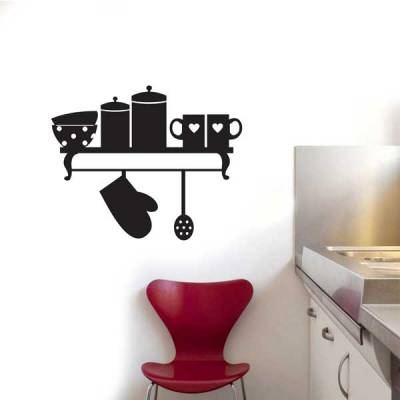 Adesivo de Parede para Cozinha Suporte de Produto