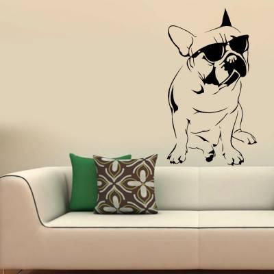 Adesivo de Parede Animais Pug De Oculos
