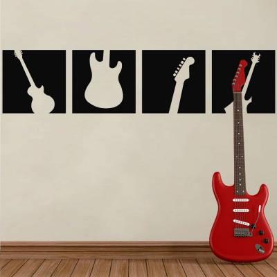 Adesivo De Parede Guitarra E Suas Partes