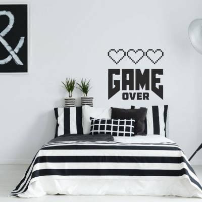 Adesivo de parede game over love