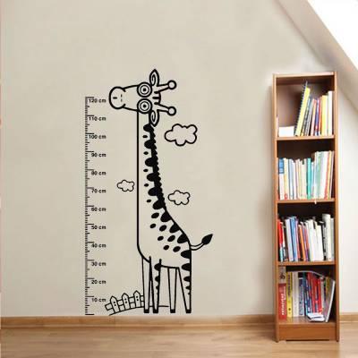 Adesivo De Parede Régua Girafa Pescoçuda