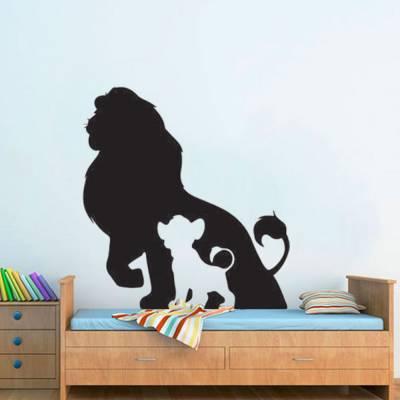 Adesivo De Parede Rei Leão Mufasa E Simba