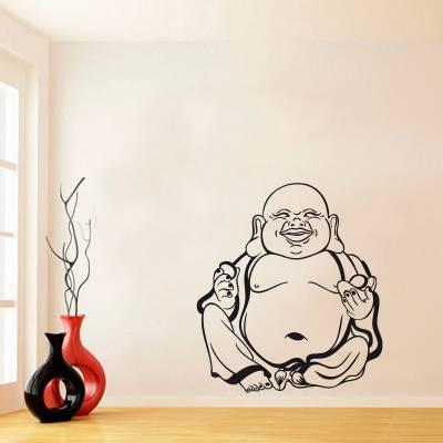 Adesivo de Parede Fé e Religião Buda Silhueta