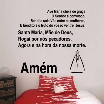 Adesivo De Parede Oração Ave Maria