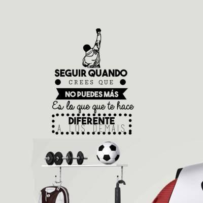 Adesivo De Parede Rocky Balboa Com Frase Em Espanhol