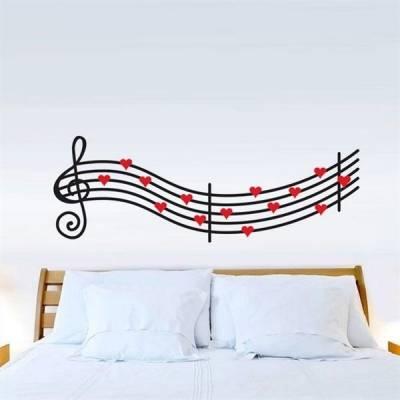 Adesivo de Parede Romântico Música
