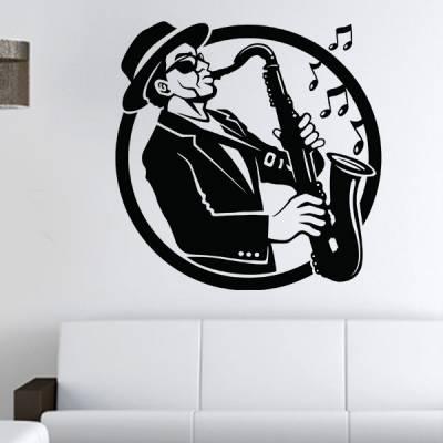 Adesivo de Parede Saxofone
