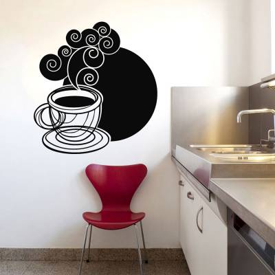 Adesivo De Parede Café Com Vapor Intenso
