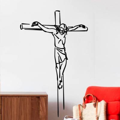 Adesivo De Parede Jesus Crucificado