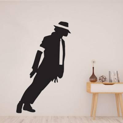 Adesivo de Parede Michael Jackson Inclinado