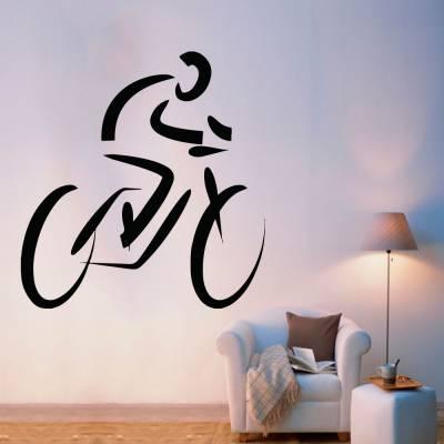 Adesivo De Parede Silhueta Mountain Bike