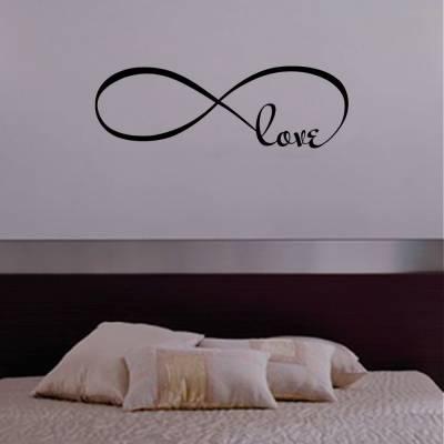 Adesivo De Parede Simbolo Do Infinito Com A Palavra Love