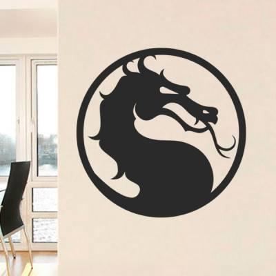 Adesivo de Parede Simbolo do Dragão Mortal Kombat