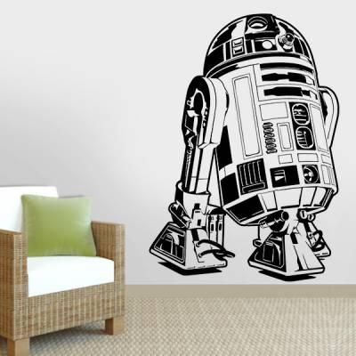 Adesivo de Parede Star Wars Robo R2d2