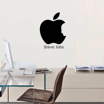 Adesivo De Parede Minimalista Steve Jobs