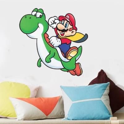 Adesivo de Parede Super Mario e Yoshi