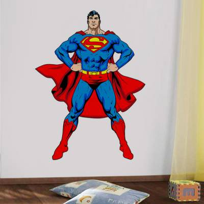 Adesivo de Parede Infantil Superman Super Homem