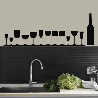 Adesivo De Parede Taças De Vinho 02