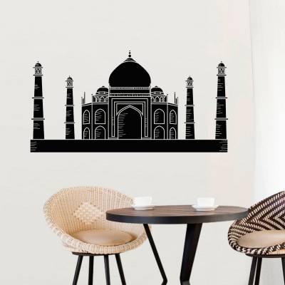 Adesivo de Parede Monumentos Silhueta Taj Mahal