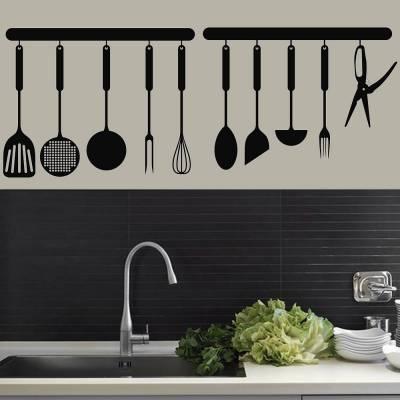 Adesivo De Parede Para Cozinha Espatulas
