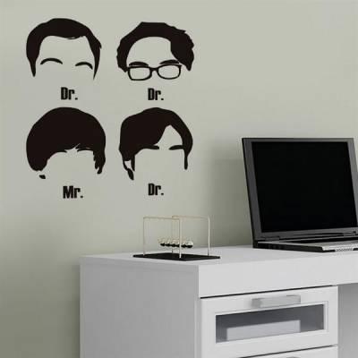 Adesivo de Parede The Big Bang Theory Silhuetas