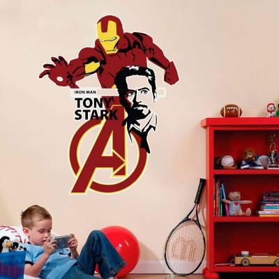 Adesivo De Parede Marvel Homem De Ferro Tony Stark