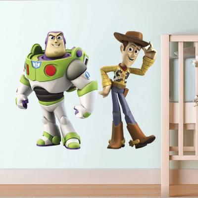 Adesivo de Parede Toy Story Woody e Buzz
