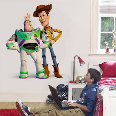 Adesivo de Parede Toy Story Buzz Lightyear e Woody