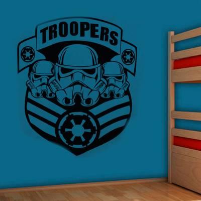 Adesivo De Parede Troopers