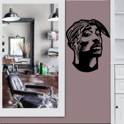 Adesivo De Parede Tupac Shakur com Lenço Amarrado Na Cabeça
