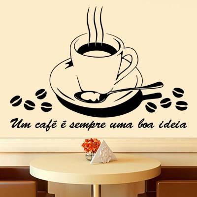 Adesivo de Parede Café Uma Boa Ideia