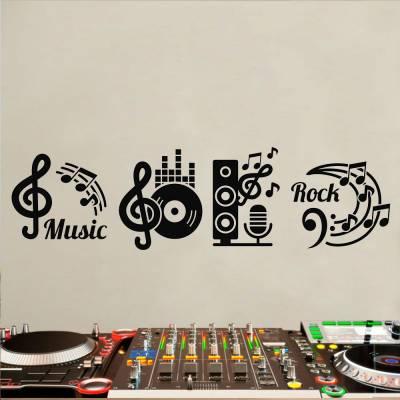 Adesivo De Parede Referências Musicais