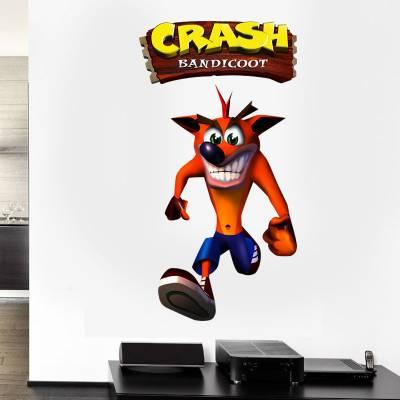 Adesivo de Parede Crash Bandicoot