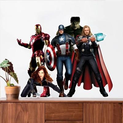 Adesivo De Parede Marvel Avengers