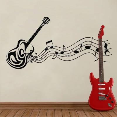 Adesivo De Parede Violão E Melodia