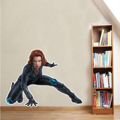 Adesivo De Parede Marvel Viúva Negra