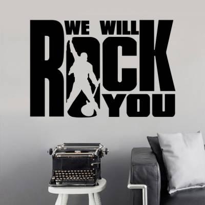 Adesivo de Parede We Will Rock You