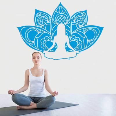 Adesivo de Parede Yoga Floral