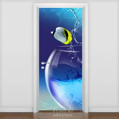 Adesivo de porta Animais 002
