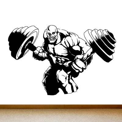 Adesivo De Parede Academia Força Musculação