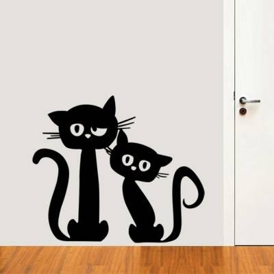 Adesivo de Parede Animais Casal De Gatos