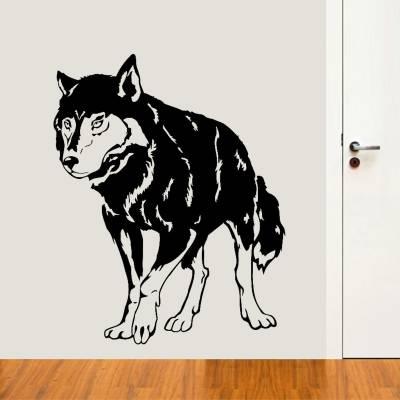 Adesivo Decorativo Animal Silhueta Lobo