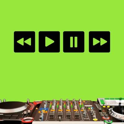 Adesivo de Parede Musical Botões Música