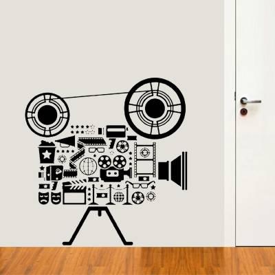 Adesivo de Parede Profissões Camera De Cinema
